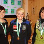 Frauen: Viktoria Hafner (2. - Umhausen), Katharina Auer (Bezirksmeisterin), Magdalena Auer (3. - Umhausen)