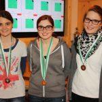 Juniorinnen: Franziska Stefani (2.), Marie-Theres Auer (Bezirksmeisterin), Katrin Raffl (3. - Imst)