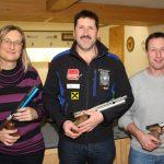 Luftpistole: Elisabeth Ladinig (2.), Andreas Ennemoser (Gildenmeister), Manfred Raggl