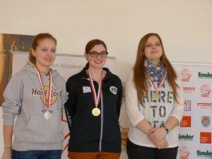 Sieger Junioren weiblich: Maria Weiskopf (Kirchbichl) - Rang 2; Marie-Theres Auer - Tiroler Meisterin; Ina Strillinger (Angerberg) - Rang 3