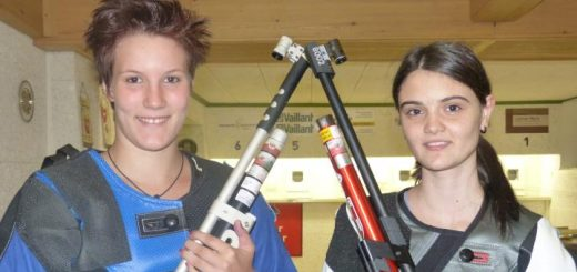 Hatten ein dichtes Programm zu bewältigen: Arabella Schauer und Franziska Stefani