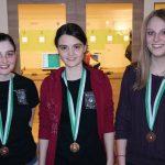 Gold und Silber bei den Juniorinnen: Franziska Stefani und Marie-Theres Auer