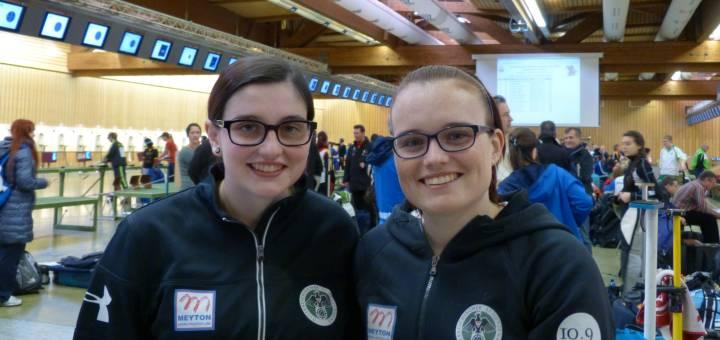 Unsere Starterinnen beim IWK in München: Marie-Theres und Katharina Auer