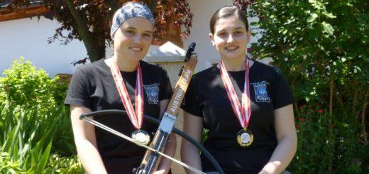 2x Gold beim internationalen Wettkampf Austria Open 2015: Katharina und Marie-Theres Auer