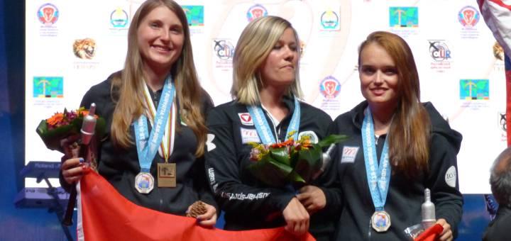 Für die Wahl der Tiroler Sportler 2015 nominiert: die Silbermannschaft der Armbrust Weltmeisterschaft 2015.