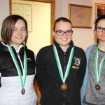 Medaillengewinnerinnen Frauen: Viktoria Hafner (Umhausen - Rang 2), Katharina Auer (Bezirksmeisterin), Carina Mair (Umhausen - Rang 3)