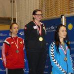 Siegerehrung Juniorinnen: die Österreichische Nationalhymne für Marie-Theres