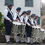 Begrüßt wurden die Sportler durch die Tambouren der Knabenmusik Zürich.