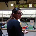 Marie-Theres bei ihrer Wettkampfvorbereitung. Zu dem Zeitpunkt noch entspannt und locker.