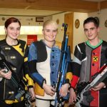 Marie-Theres Auer (2.), Katharina Auer (Gildenmeisterin), Jonannes Stefani (3.)