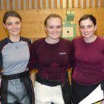Unsere drei Medaillengewinnerinnen unmittelbar nach dem Finale.