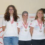 Siegerbild Frauen: Michaela Walo (Deutschland - Rang 2), Katharina Auer (Rang 1), Sonja Strillinger (Österreich, Rang 3)