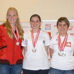 Siegerbild U23 weiblich: Chantal Klenk (Deutschland - Rang 2), Marie-Theres Auer (Rang 1), Tamara Menzi (Schweiz - Rang 3).