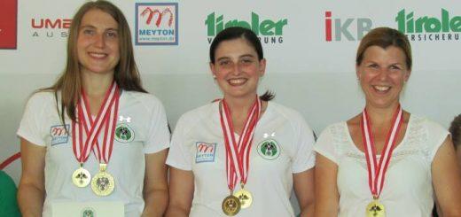 Gold für die Mannschaft Tirol mit Sonja Strillinger, Marie-Theres Auer und Eva Greiderer.