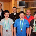 Rang 3 in der Klasse Jugend 2 männlich: Manuel Raggl (vorne rechts)