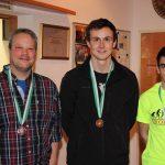 Medaillengewinner Männer: Peter Pfeifer (Imst - Rang 2), Lukas Kammerlander (Umhausen - Bezirksmeister 2016), Johannes Stefani (Rang 3)