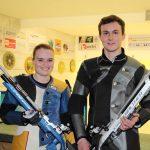 Die Bezirksmeister 2016: Katharina Auer und Lukas Kammerlander (Umhausen)