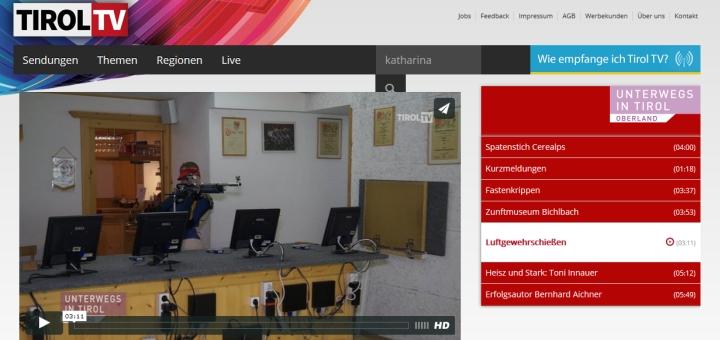 Beitrag auf TirolTV