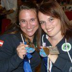 Erfolgreiche Zimmergenossinnen: Mannschaftsbronze für Regina Time (Oberösterreich), Bronze und Silber für Katharina Auer.