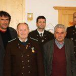 Unsere Jubilare mit BGM Ingo Mayr, OSM Gebhard Ennemoser und BOSM Christof Melmer.