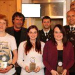 Die Medaillengewinner der abgelaufenen Saison mit BGM Ingo Mayr, OSM Gebhard Ennemoser und BOSM Christof Melmer.