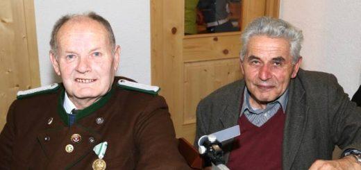 """Unsere beiden Jubilare: 75 Jahre Hans """"Angelus"""" Heiß, 80 Jahre Alois Ennemoser"""